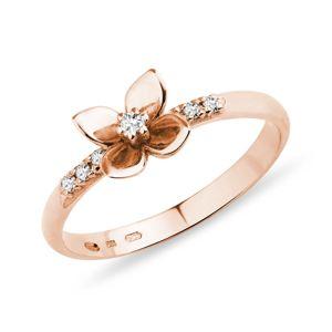 Zlatý prsten s diamanty KLENOTA