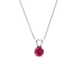 Zlatý náhrdelník s rubínem KLENOTA