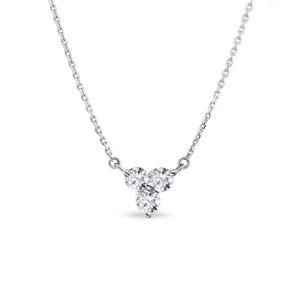 Diamantový náhrdelník v bílém zlatě KLENOTA