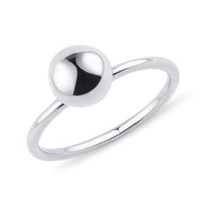 Minimalistický prsten s kuličkou KLENOTA