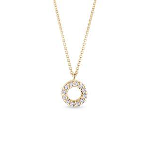 Kruhový náhrdelník s diamanty KLENOTA