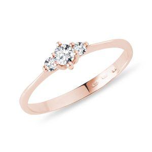 Zásnubní prsteny z růžového zlata