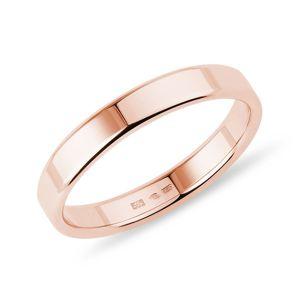 Pánský prsten v růžovém zlatě KLENOTA