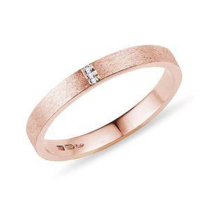 Snubní prsten z růžového zlata KLENOTA