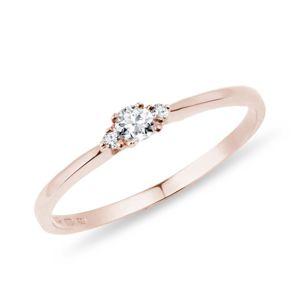 Zlatý diamantový prsten KLENOTA
