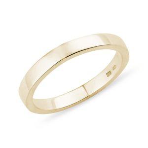 Pánský prsten ve žlutém zlatě KLENOTA