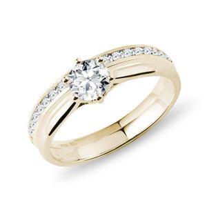 Sada zásnubního a snubního prstenu ve zlatě KLENOTA